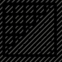 design, grid, pixel, rasterize, show icon