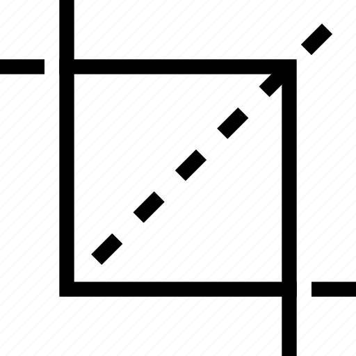 crop, cut, design, graphic, tool icon
