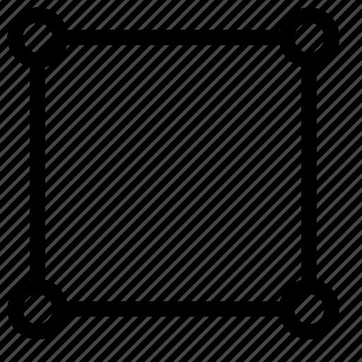 border, design, square, vector, vectorize icon