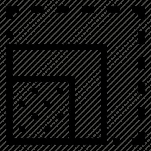 design, resize, scale, square, tool icon