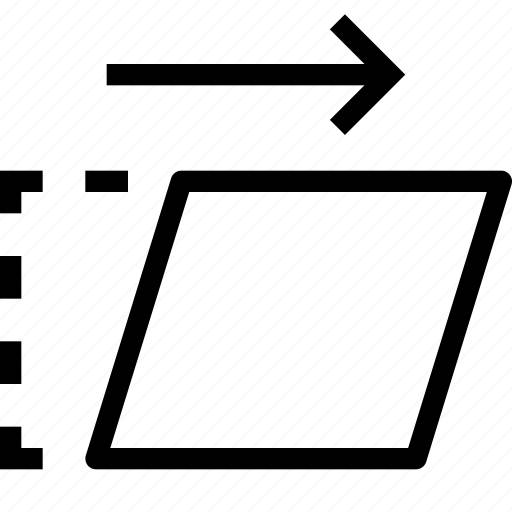 design, move, skew, tool, transform icon