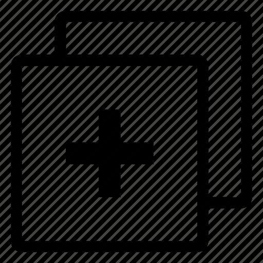 add, copy, design, duplicated, new icon