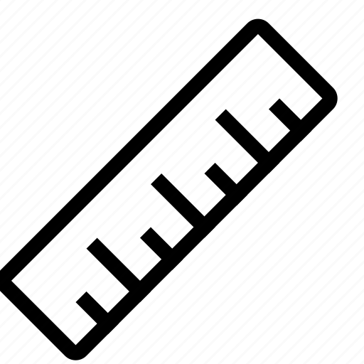 design, measure, ruler, size, straight icon