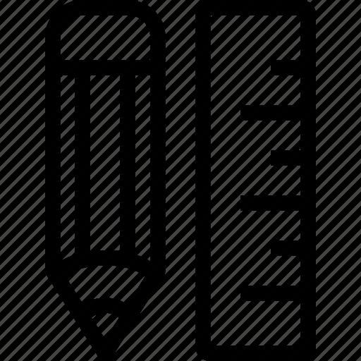 design, graphic, math, pencil, ruler icon