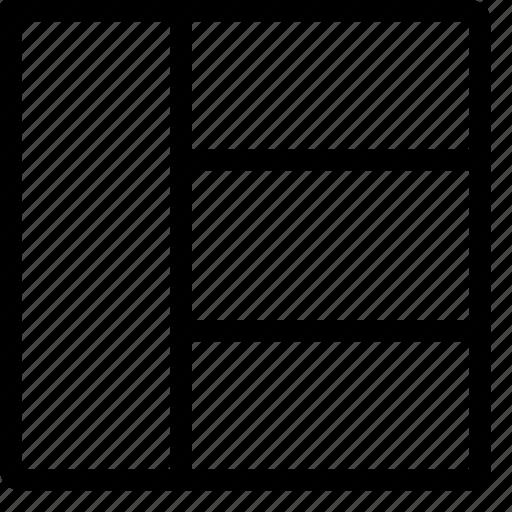 arrange, collage, design, layout, view icon