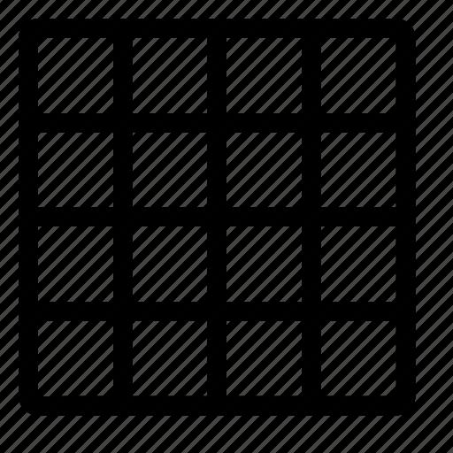 design, grid, net, pixel, view icon