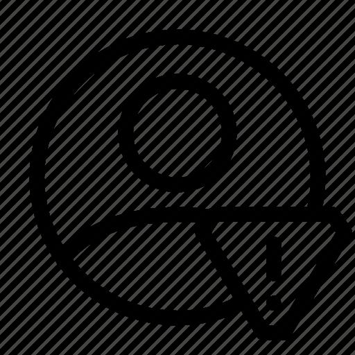 account, alert, people, profile, user, warning icon