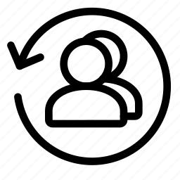 arrow, refresh, reload, returning, sync, user icon