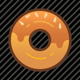 bakery, dessert, donut, doughnut, food, peanut icon