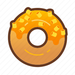 bakery, cheese, dessert, donut, doughnut, food icon