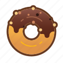bakery, chocolate, dessert, donut, doughnut, food icon