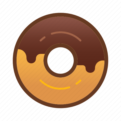 bakery, chocolate, dessert, donut, doughnut, food icon