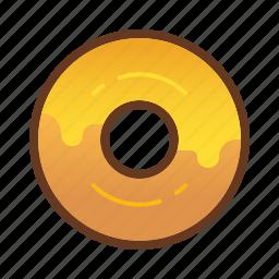 bakery, cheese, dessert, donut, doughnut, food, yellow icon