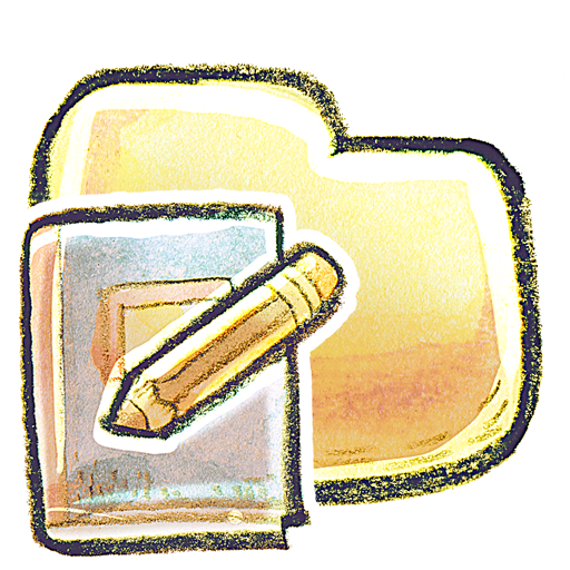 folder, notebook icon