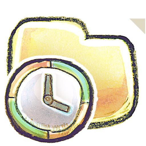 folder, time icon