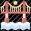 bridge, bridges, buildings, connection, constructions, river