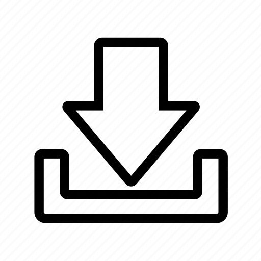 arrow, down, download, save icon
