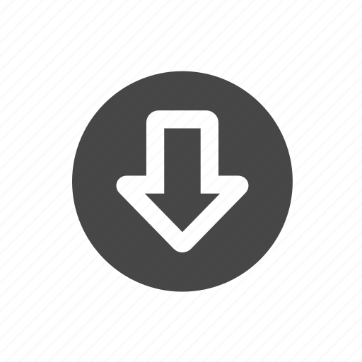 arrow, circle, down, download i icon
