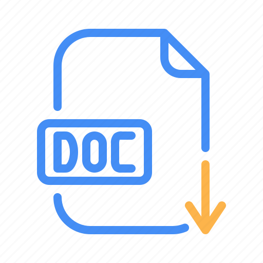 Doc, document, download, file, office, word icon - Download on Iconfinder