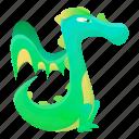 baby, dragon, green, kid, yellow