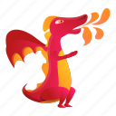 baby, book, dragon, flame, red