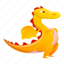 baby, child, dragon, person, yellow