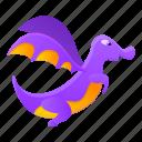animal, baby, child, dragon, hand, purple