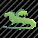baby, child, christmas, dragon, green, hand