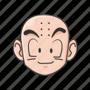 anime, cartoons, clearin, dragon ball, krillin, kuririn, monk icon