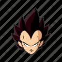 anime, cartoons, dragon ball, prince saiyan, vegeta, villain icon