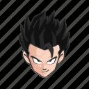 anime, cartoons, dragon ball, gohan, hero, saiyan, son gohan icon