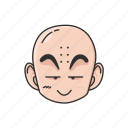 anime, cartoons, clearin, dragon ball, krillin, kuririn icon