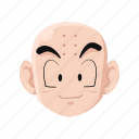 anime, cartoon, clearin, dragon ball, krillin, kuririn, monk