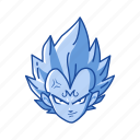 anime, cartoon, dragon ball, prince saiyan, saiyan, vegeta, villain icon