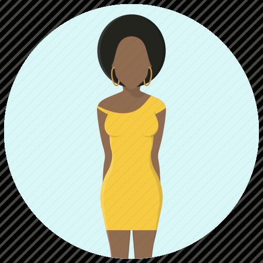 clothing, dress, fashion, female, lady, style, woman icon