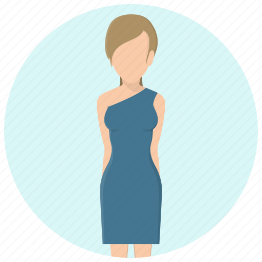 clothing, dress, fashion, girl, profile, style, woman icon