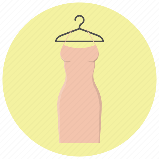clothes hanger, clothing, coctail dress, dress, fashion, hanger, woman clothing icon