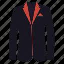blazer, clothing, coat, dress, fashion, style, suit icon