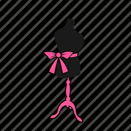 apparel, bow, display, dummy, fashion, mannequin icon