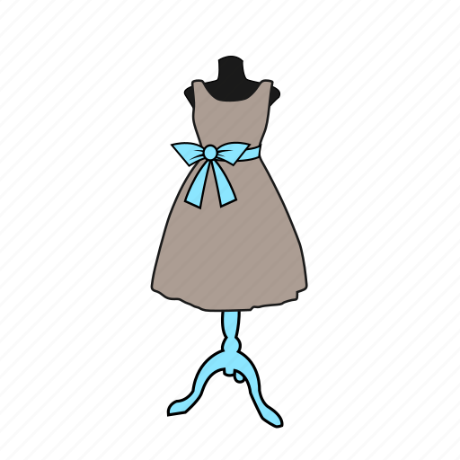 apparel, bow, display, dress, dummy, fashion, mannequin icon