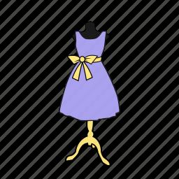apparel, bow, display, dress, dummy, fashion, mannequin icon