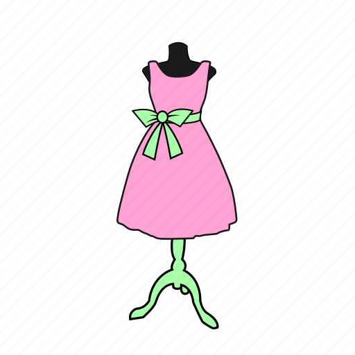apparel, bow, dess, display, dummy, fashion, mannequin icon