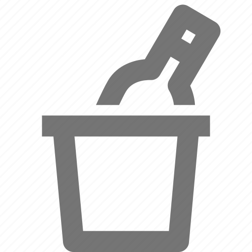 alcohol, beverage, bottle, bucket, champagne, drink, ice icon