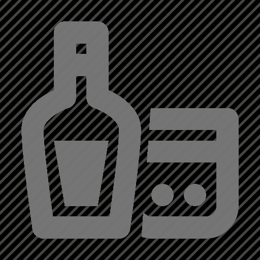 alcohol, beverage, bottle, glass icon
