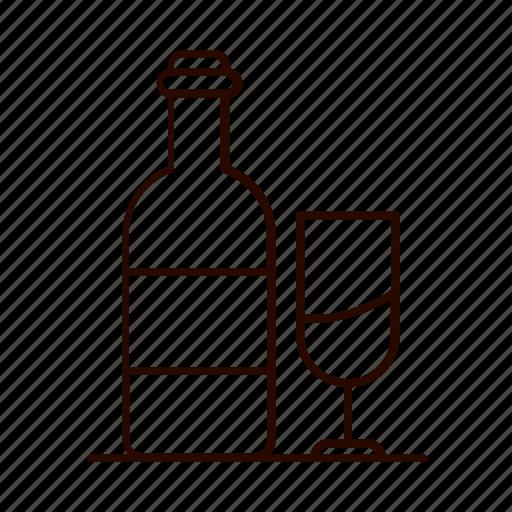 beverages, bottle, drink, glass, wine icon