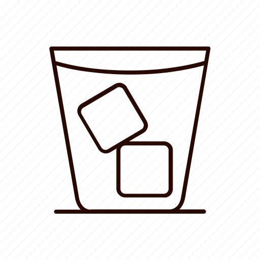 alcohol, beverages, drink, ice, water icon