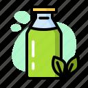 bottle, drink, green, matcha, milk, tea