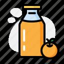 alcohol, bottle, cup, drink, milk, orange