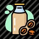 bottle, brown, drink, eat, milk, peanut