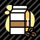 cafe, carton, coffee, cup, drink, milk